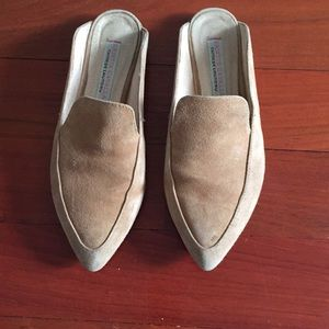 Kristin Cavallari Tan Suede slip on loafers